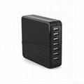 45W Desktop 7 USB Intelligent Charger 5V 9A(MAX)Output