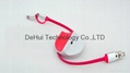 2in1 retractable usb date cable with OTG, stand for iphone/samsung/android phone