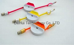 2in1 retractable usb dat