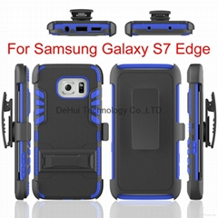 3-in-1 Bracket clip sleeve Cover case for Samsung galaxy S6 Edge