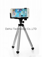 Stainless steel telescopic tube cell phone camera tripod for iphone/samsung etc