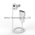 Portable 9.6 amp multi port 4usb car charger for tablets/smart phone etc
