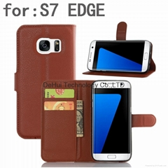 Wallet leather case for Samsung Galaxy S7 Edge