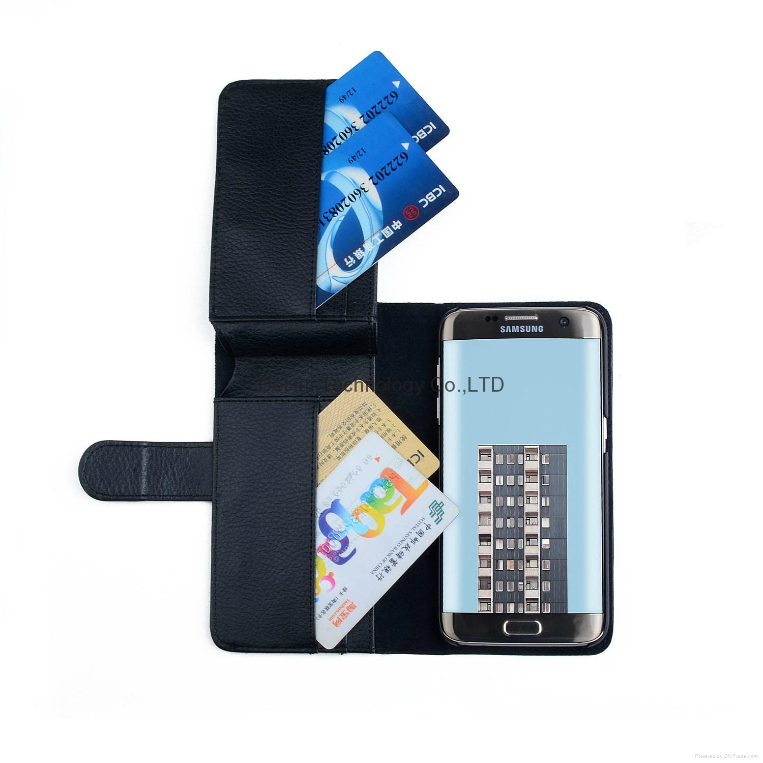Wallet leather case with 7 Card Hole  for Samsung Galaxy S7 Edge 1