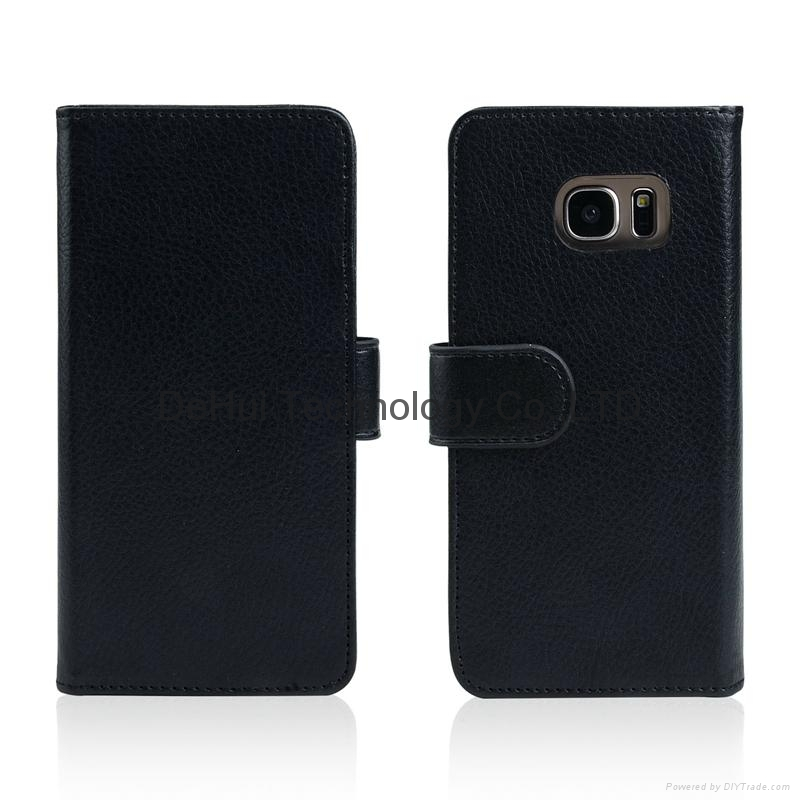 Wallet leather case with 7 Card Hole  for Samsung Galaxy S7 Edge 2