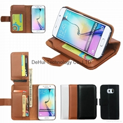Wallet leather case with 7 Card Hole  for Samsung Galaxy S7 Edge