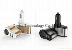 5V 3.1A 3in1 Car Charger for ipad/iphone/smart phone etc
