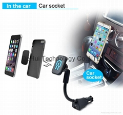 Universal Car Magnetic Mount with USB Charger for Smart phone