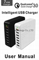 QC3.0 7 USB Smart Charger With 5V 2.4A /