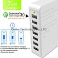 QC3.0 7 USB Smart Charger With 5V 2.4A / 9V 2A / 12V 1.5A output