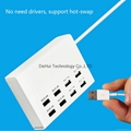 5V 10A(MAX) output 8 USB Smart Charger for Smart phone / Tablet PC