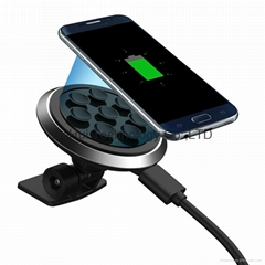 Qi Car mount Wireless Charger -compact style