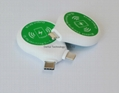 High quality 2in1 wireless charging receiver qi for apple / android micro phones