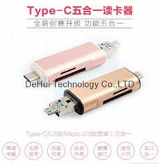 USB C TYPE-C3.1 Card Reader TF Micro SD to Type-C OTG Card Reader