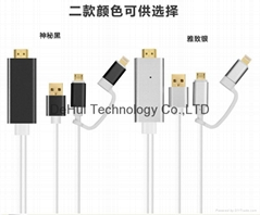 2in1 HDMI Adapter for Apple & Android phones