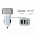 Quick Charge 3.0 42W 3-Ports Fast USB Smart Car Charger  8