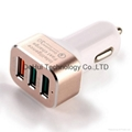 Quick Charge 3.0 42W 3-Ports Fast USB Smart Car Charger  4