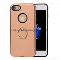 TPU+Aluminum Protective Case With Finger Ring for iphone 7 Plus