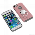 Anti-drop case with car holder aluminum ring for iphone 7 plus