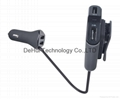 48W 9.6A 4-Port USB Car Charger for Front (2-USB 4.8A) and Back Seat 2-USB 4.8A