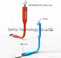 Micro-USB Date Cable with mini led light for android phones 1
