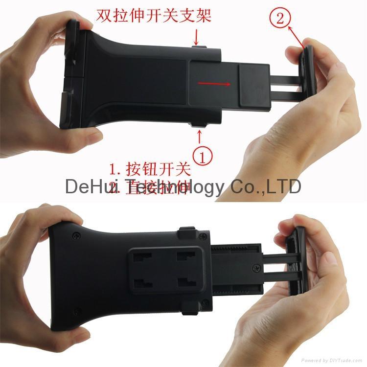 Car Headrest holder mount for 3.5-6inch mobile phone/6-11inch tablet 15