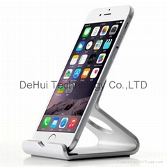 """Desktop aluminum stand for iphone/ipad mini/3.5""""-6""""inch phone/7""""inch tablets"""