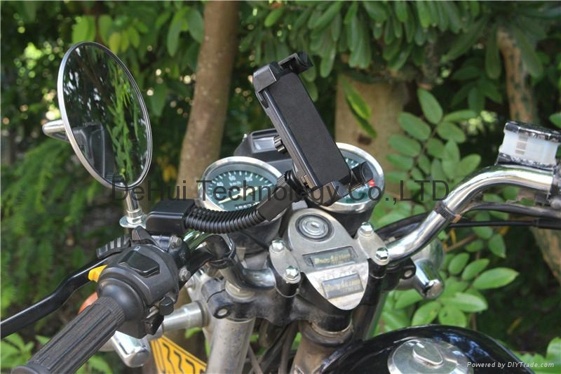 "Motorcycle phone mount mirror motorbike holder for 3.5"" to 6.5"" Smartphones  11"