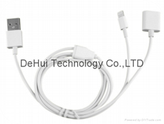 2in1 USB Charger Cable for Apple pencil/iphone 7 6 6s plus 5s etc