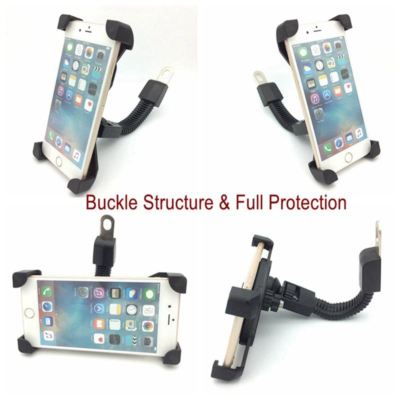 "Motorcycle phone mount mirror motorbike holder for 3.5"" to 6.5"" Smartphones  12"