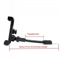 "Motorcycle phone mount mirror motorbike holder for 3.5"" to 6.5"" Smartphones"