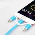 3-in-1 Retractable USB Cables(Lighting + Type-C + Micro USB) 2A Fast Charge 10