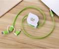 3-in-1 Retractable USB Cables(Lighting + Type-C + Micro USB) 2A Fast Charge 12
