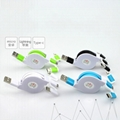 3-in-1 Retractable USB Cables(Lighting + Type-C + Micro USB) 2A Fast Charge 3