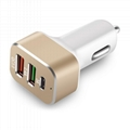 QC3.0 USB Fast Car Charger with Type-C port 3