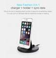 2A Fast Charging Aluminum Stand for Smartphones(8pin/Micro-USB/Type-C option)