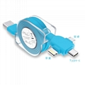 3-in-1 Retractable USB Cables(Lighting + Type-C + Micro USB) 2A Fast Charge 7