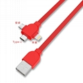 3-in-1 Retractable USB Cables(Lighting + Type-C + Micro USB) 2A Fast Charge 8