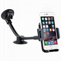 Flexible Long Arm Windshield Car Holder Cradle for 3.5 to 6.0inch Cell phones