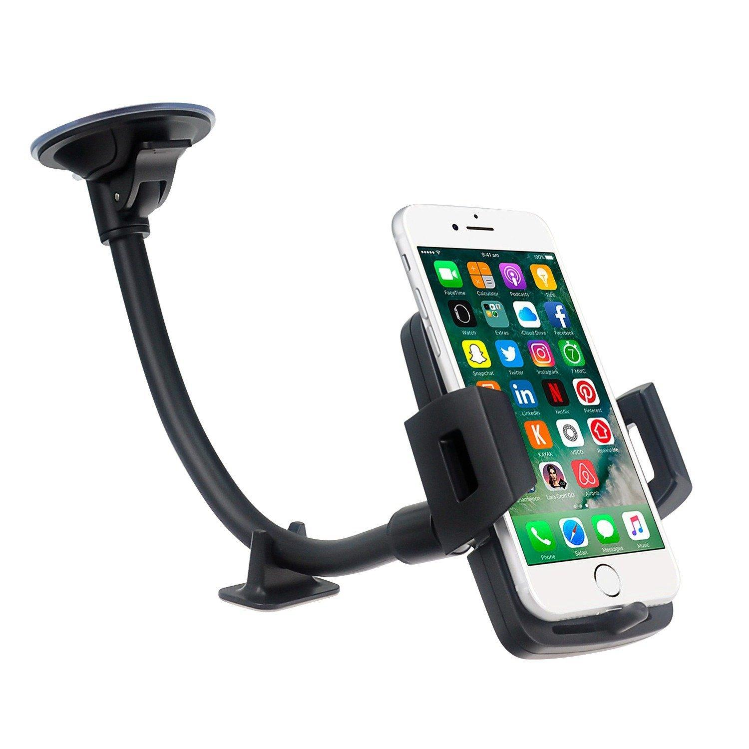 """Long Arm Car Truck phone iphone mount holder cradle for Smartphone(3.5"""" to 6.0"""") 5"""