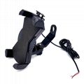 Universal Motorcycle Phone Mount With 5V 2A USB Charger for smartphones