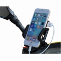 Universal Motorcycle phone cradle with 5v 2a fast charger for cell phones