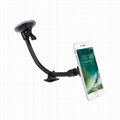 Windshield Magnetic Long Arm Car Phone Mount with extra dashboard base