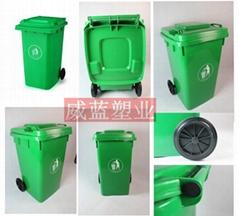 湖北武汉塑料卫生垃圾桶摇盖式长筒形