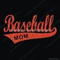 Sell Hotfix Baseball Mom Glitter Motif