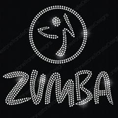 Zumba Symbo Rhinestone Heat Transfer