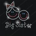 Big Sister Hotfix Rhinestone Motif
