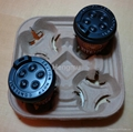 paper pulp coffee cup tray for 4 cups