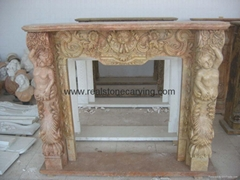 Marble fireplace surround,mantles