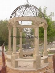 砂岩花园凉亭